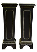 Pair of French Louis XIV Style Ebonised Stands (2 of 5)