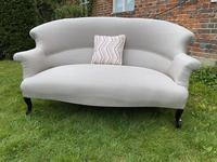 French Two Seater Sofa in Linen (7 of 8)