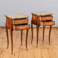 Pair of French Walnut & Kingwood Bedside Cabinets (6 of 8)