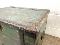 Distressed Painted Metal Bound Trunk (3 of 10)