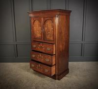 Marquetry Inlaid Rosewood Tallboy (9 of 12)