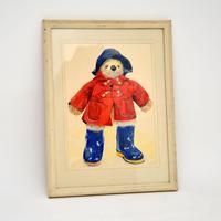 Vintage Paddington Bear Original Watercolour Painting (2 of 8)