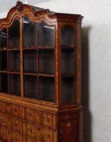 Dutch Bombe Bookcase Vitrine Display Cabinet on Chest Glazed (14 of 17)
