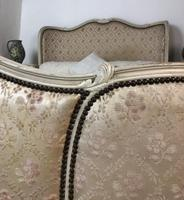 Antique French Full Corbeille King Size Bed Frame Curved Headboard & Footboard (8 of 13)