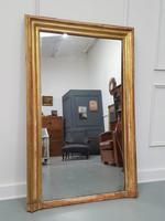 Antique Gilded Narrow French Mirror c.1860 (3 of 6)