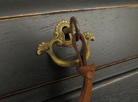 Antique Art Nouveau Black Writing Bureau Desk with Carvings, Lockable, Gothic (4 of 23)