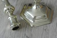 Good Pair of Early 18th Century English Georgian Brass Candlesticks c.1720 Seamed (4 of 9)