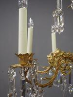 Edwardian Gilded and Glass Chandelier (3 of 13)