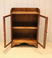 Small Proportioned Oak Glazed Bookcase (8 of 11)