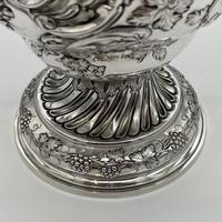 Antique George II Large Rococo Silver Cup & Cover London 1755 William Grundy (8 of 12)