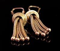 Victorian 9ct Gold Tassel Earrings (6 of 7)