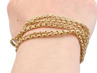 9ct Yellow Gold Longuard Chain - Antique c.1890 (12 of 12)