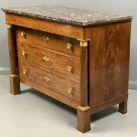 French Empire Commode Chest of Drawers with Marble Top (3 of 7)