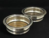 Pair of Edwardian Silver Plated on Copper Bottle Coaster (3 of 5)