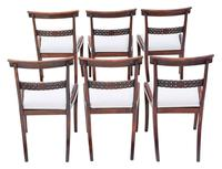Set of 6 Regency Faux Rosewood (beech) Dining Chairs 19th Century C1825 (2 of 7)