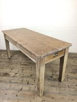 Antique Pitch Pine Table with Drawers (8 of 10)