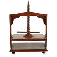 18th Century Fruit Wood Book Press (3 of 8)