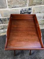 Antique Mahogany Butlers Tray on Stand (3 of 8)