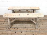 Pair of Antique Rustic Pine Benches (2 of 6)