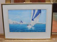 Watercolour Seascape The international one design artist Carolyn Finch (Free shipping to Mainland England) (3 of 10)