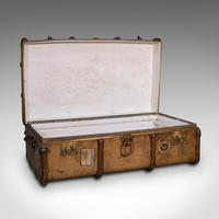 Large Antique Steamer Trunk, English, Cedar, Shipping Chest, Edwardian c.1910 (2 of 12)