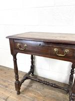 18th Century Antique Oak Side Table with Drawer (5 of 10)