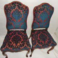 Pair of 18th Century Dutch Walnut Cabriole Leg Chairs (4 of 8)