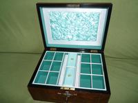 Quality Inlaid Burr Walnut Jewellery Box + Tray. c1875. (11 of 12)