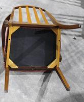 Gplan 1960s Set 6 Quality Walnut Dining Chairs Pink Stripe Seats (4 of 4)