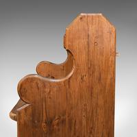 Antique Love Seat, English, Pine, Bench, Pew, Ecclesiastic Taste, Victorian (10 of 12)