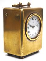 Antique Travelling Miniature Carriage Clock – Wonderful Dial Alarm Feature by Junghans (3 of 6)