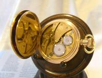 Antique Pocket Watch 1922 Swiss Vertex 7 Jewel Half Hunter 10ct Gold Filled Fwo (11 of 12)
