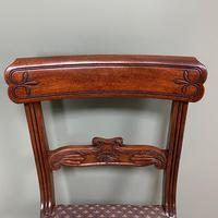 Superb Quality William IV Set of Six Mahogany Antique Dining Chairs (3 of 9)
