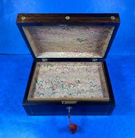 William IV Rosewood Jewellery Box With Mother Of Pearl Inlay (6 of 17)