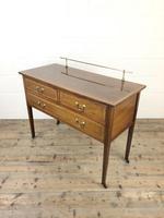 Antique Edwardian Inlaid Mahogany Side Table (3 of 11)