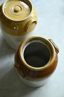 Pair of Large Antique Bristol Stoneware Crock Pots (6 of 12)