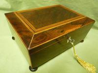 Regency Rosewood Jewellery / Sewing Box - Original Tray + Accessories c.1820
