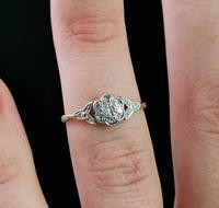 Antique Diamond Flower Ring, 18ct Gold & Platinum (11 of 11)