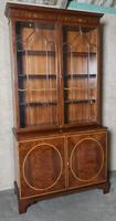 Georgian Style Mahogany and Satinwood Banded Bookcase (7 of 10)