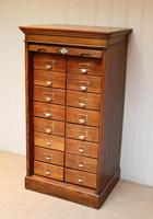 Solid Oak Lebus Tambour Front Filing Cabinet (6 of 10)