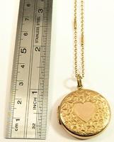 Edwardian Hallmarked 9 Carat Rose Gold Locket Necklace Chester Assayed (4 of 10)