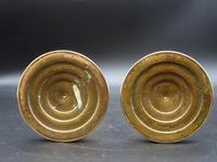 An Attractive Pair of Late 19th Century Ring Turned Brass Candlesticks (4 of 4)