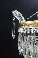 Italian Art Deco Three Tier Crystal Glass Chandelier (4 of 6)