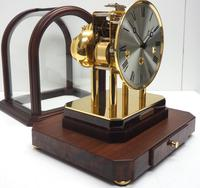 Wow! Franz Hermle & Sohne Musical Bell Chiming Mahogany & Glass Mantel Clock (13 of 13)