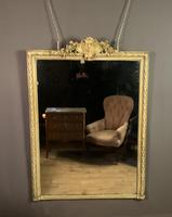 Large painted French chateau style mirror (4 of 8)