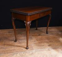 Georgian style Card Table Mahogany Games Tables 1880 (4 of 8)