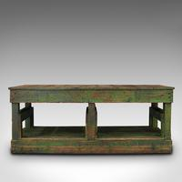 Large Antique Factory Mill Table, English, Pine, Industrial, Victorian c.1900 (6 of 10)