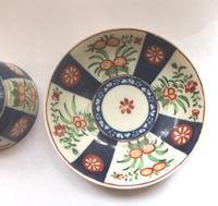 A Porcelain 1st Period Worcester Queen's Imari Tea Bowl & Saucer C.1770 (6 of 7)