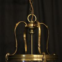 French Large Brass Four Light Antique Lantern (9 of 10)