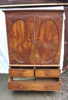 1830's Mahogany Linen Press with Slides (2 of 6)